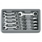 GearWrench 10 Pc. Stubby Ratcheting Combination Wrench Set