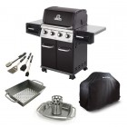 REGAL™ 420 LP Grill, Cover, Wok, Chicken Roaster w/ Pan, Tools (956214, 68491, 69818, 69133, 64004)