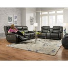 Design 2 Recline Velocity Double Reclining Sofas with Power recline and headrest