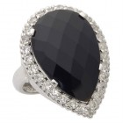 Faceted Black Onyx Ring