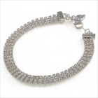 Carolee Three Row Crystal Bracelet
