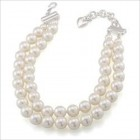 Carolee Two Row 12mm Pearl Choker Necklace
