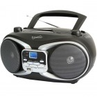 CD MP3 AM FM Boombox Black