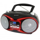 CD MP3 AM FM Boombox Red