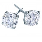 1 carat total weight 14K White Gold Screwbacks