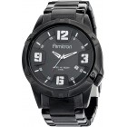 Men's Black Plated Stainless-Steel Watch