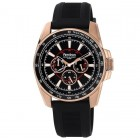 Men's Black Chronograph Watch