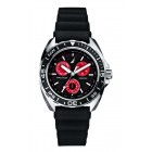 Men's Sport Ring Multifunction Black and Red Watch