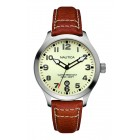 Men's BFD 101 Stainless Steel Watch with Leather Band
