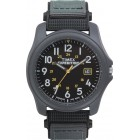 Unisex Traditional 30-Lap Black and Gray Resin Strap Watch