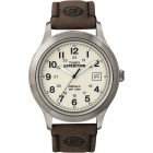 Men's Expedition Metal Field Brown Leather Strap Watch