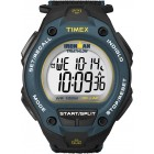Men's Ironman Traditional 30-Lap Oversize Black/Blue Fast Wrap Strap Watch