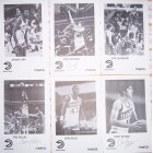1986-87 Atlanta Hawks autographed photos (Antoine Carr Scott Hastings Cliff Levingston Tree Rollins Kevin Willis Randy Wittman)