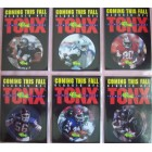 1993 Pro Line TONX 6 card insert set (Troy Aikman Michael Irvin Jerry Rice Deion Sanders Lawrence Taylor Thurman Thomas)
