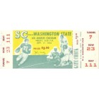 1954 USC Trojans vs Washington State Cougars college football full unused ticket