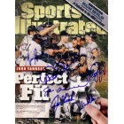 1998 New York Yankees autographed World Series Sports Illustrated (Derek Jeter Joe Torre David Wells)