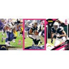 2009 San Diego Chargers Breast Cancer football card set (Antonio Gates Philip Rivers LaDainian Tomlinson)