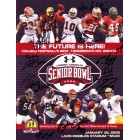 2008 Senior Bowl program autographed by 10 players (Cliff Avril Justin Forsett Tom Zbikowski)