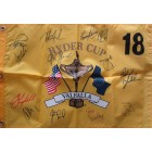 2008 US Ryder Cup Team autographed golf pin flag (Paul Azinger Phil Mickelson)