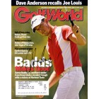 Aaron Baddeley autographed 2006 Golf World magazine