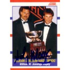 Andy Moog autographed Jennings Trophy 1990-91 Score hockey card