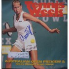 Anna Kournikova autographed 1996 Tennis Week magazine cover (old signature)