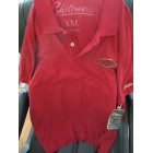 Arkansas Razorbacks red golf or polo shirt by Chiliwear XXL NEW WITH TAGS
