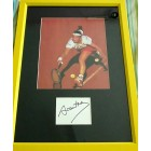 Arantxa Sanchez-Vicario autograph matted & framed with French Open tennis photo