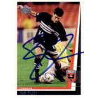 Ben Olsen autographed 1999 MLS DC United card