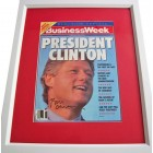 Bill Clinton autographed 1992 Business Week magazine cover matted & framed