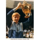 Boris Becker 1985 Wimbledon Champion postcard