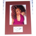 Brandy Norwood autograph matted & framed with 8x10 photo