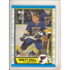 Brett Hull Blues 1989-90 Topps card #186