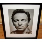 Bruce Springsteen autographed 11x14 black & white portrait photo matted & framed