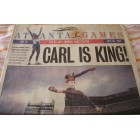 Carl Lewis soars into Olympic history 1996 Atlanta newspaper