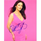 Catherine Zeta-Jones autographed 8x10 pink dress photo