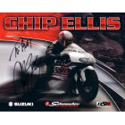 Chip Ellis autographed 8x10 NHRA photo card (to Alex)