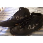 Chris Kaman autographed game used or worn pair of Nike Zoom basketball shoes