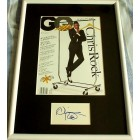 Chris Rock autograph matted & framed with GQ magazine cover