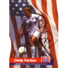 Cindy Parlow autographed 1999 Women's World Cup Champions card