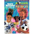 Cobi Jones & Alexi Lalas autographed 1994 SI for Kids magazine cover