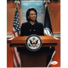 Condoleezza Rice autographed Secretary of State 8x10 photo (JSA)