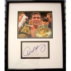 Oscar De La Hoya autograph matted & framed with 8x10 boxing photo