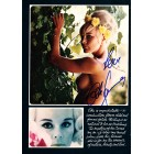 Elke Sommer autographed Playboy magazine full page with topless photo
