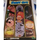 Alex Borstein Mike Henry Patrick Warburton autographed Family Guy 2013 Comic-Con poster