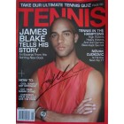 James Blake autographed 2007 Tennis magazine