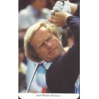 Jack Nicklaus 1987 Fax-Pax golf card