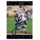 Jaime Moreno autographed 1999 MLS DC United card