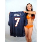 John Elway Denver Broncos blue authentic Reebok stitched size 3XL jersey
