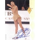 Lu Chen autographed full page magazine figure skating photo